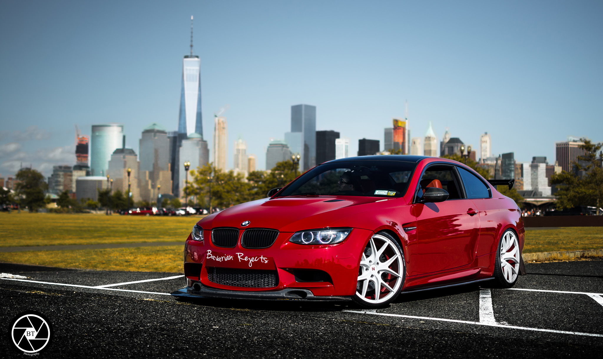 BMW E92 M3 Red White ZS05