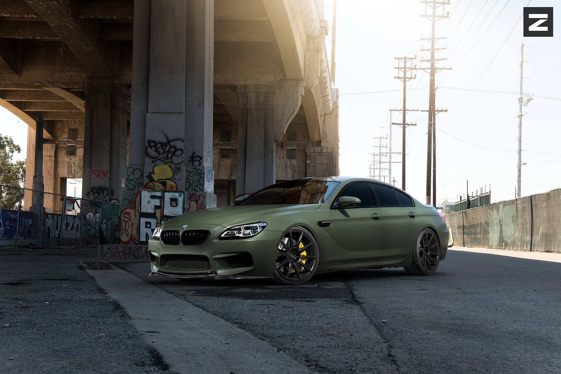 BMW F06 M6 Green Black ZS03