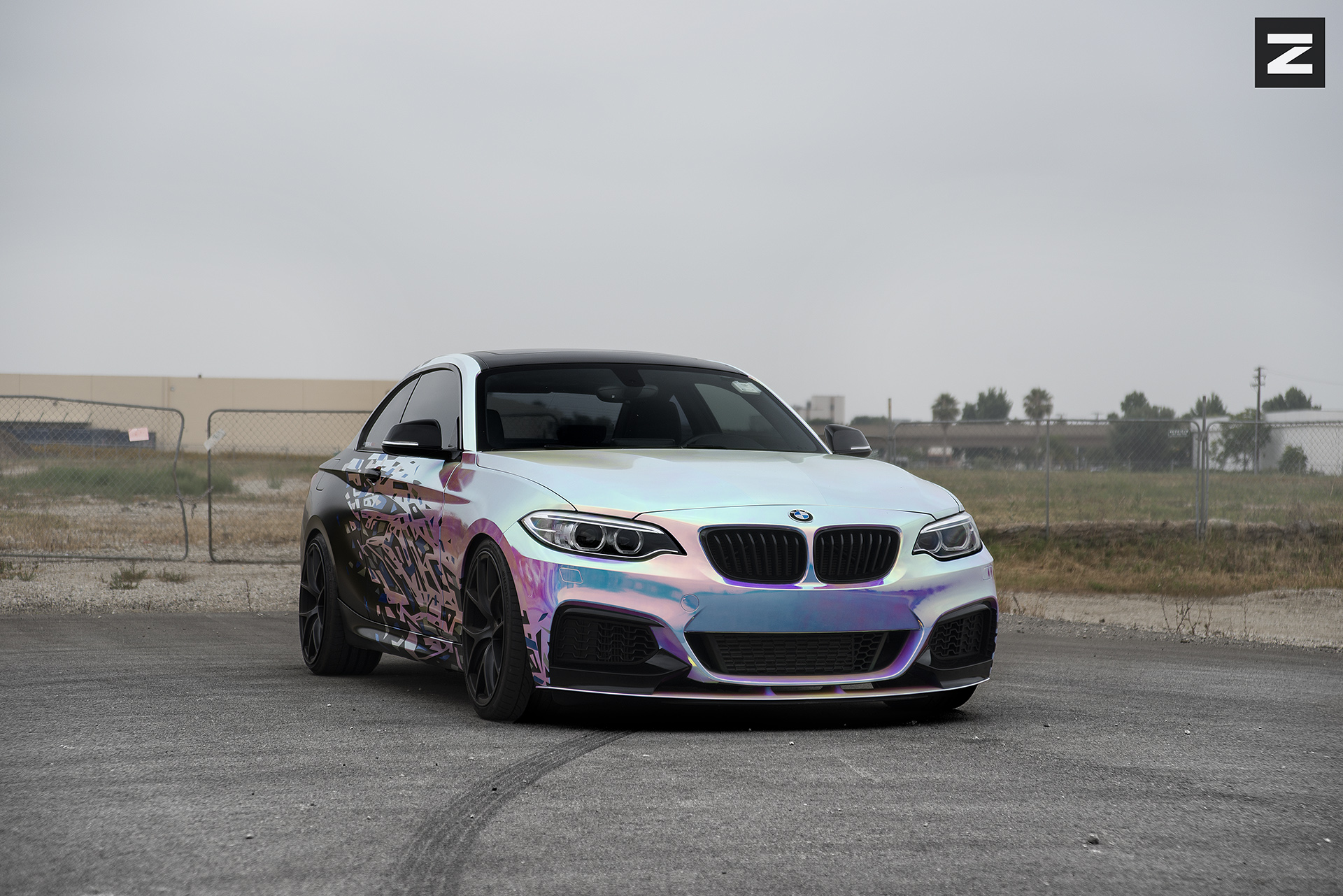 BMW F22 M235i Wrap Black ZS05