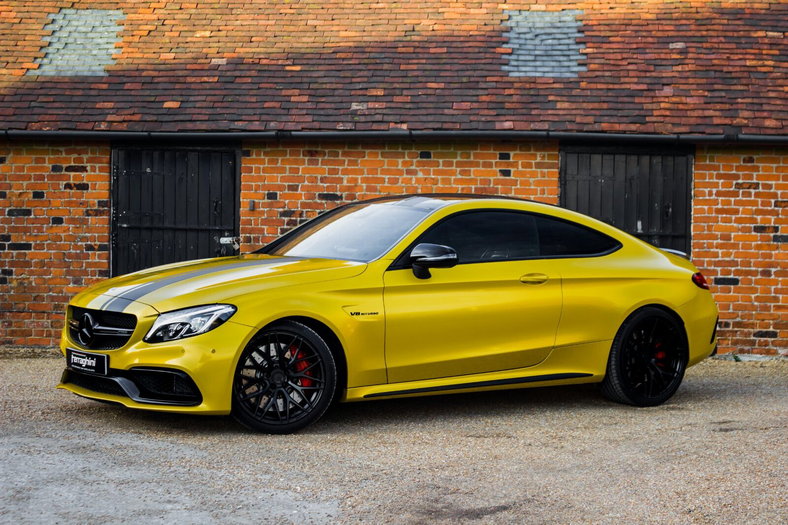 Mercedes Benz C63 AMG W205 Yellow Black ZF01