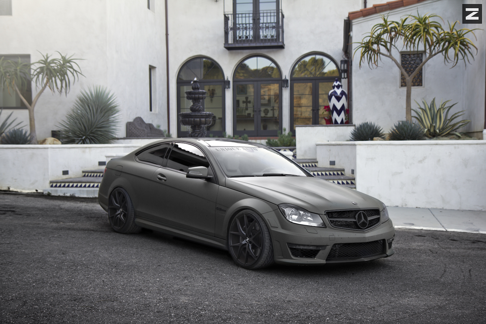 Mercedes Benz C63 W204 Black Black ZS05