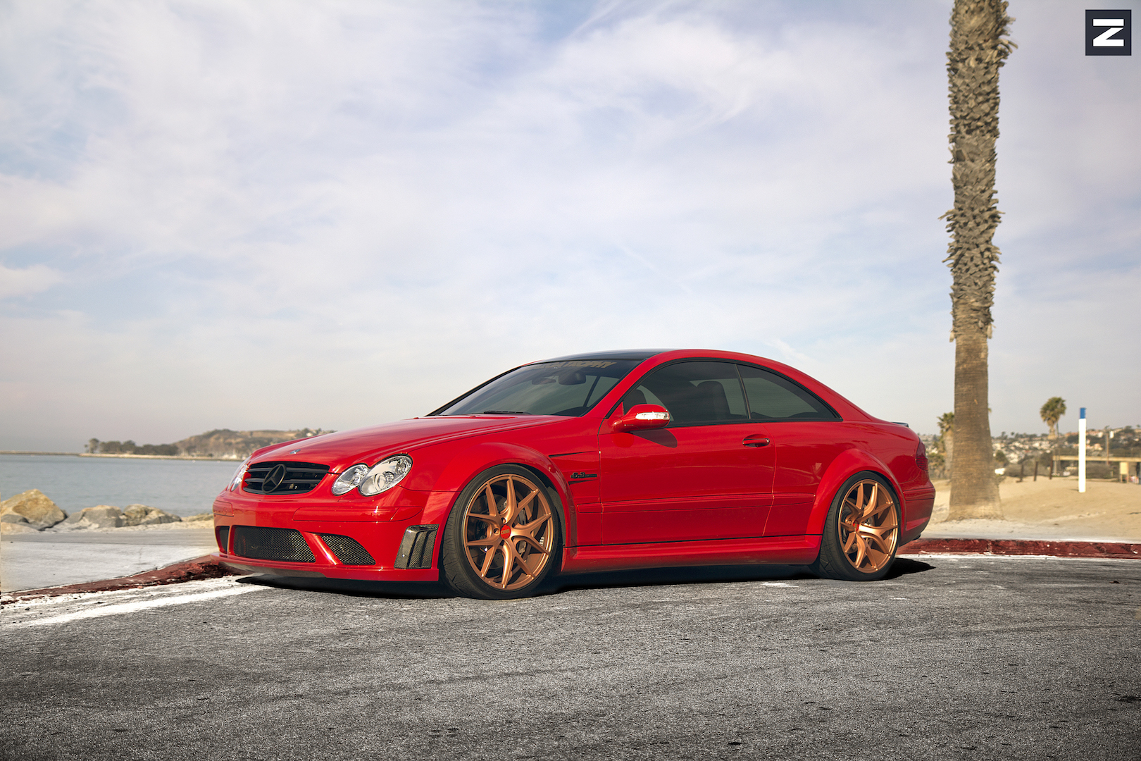 Mercedes Benz CLK63 AMG Red Gold ZS05