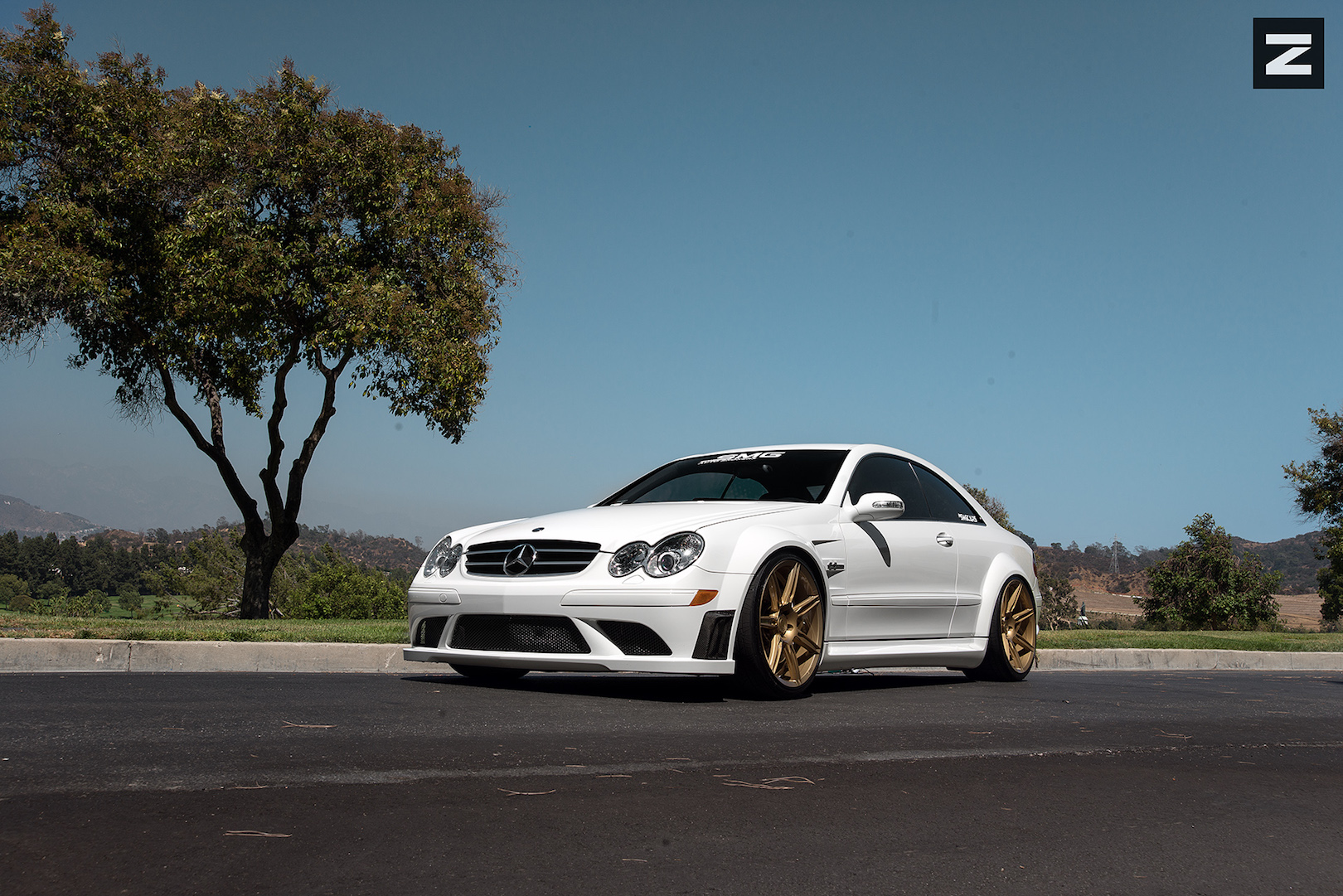 Mercedes Benz CLK63 AMG White Gold ZS07