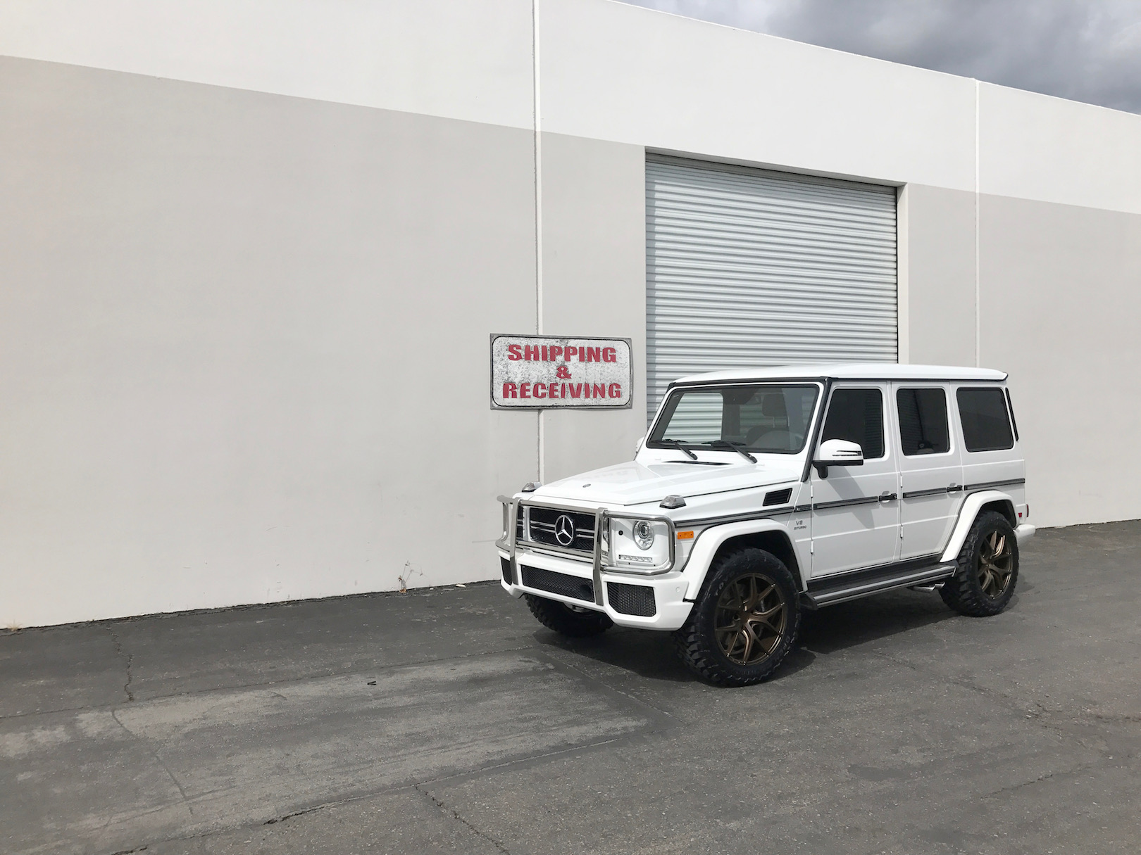 Mercedes Benz G63 AMG White Bronze ZS05