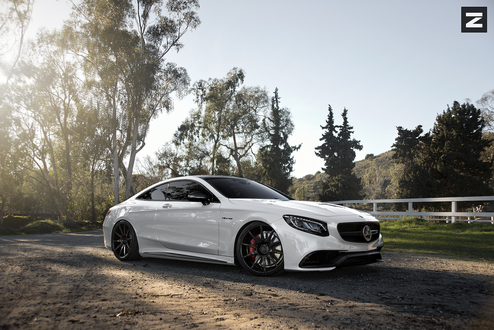 Mercedes Benz GS63 AMG Coupe White Black ZS03